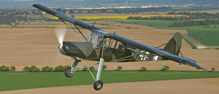 Fieseler Fi 156 Storch (Čáp): specialista na přistání na každé louce