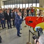 hejtman Petera otevírá muzeum otočením vrtulí