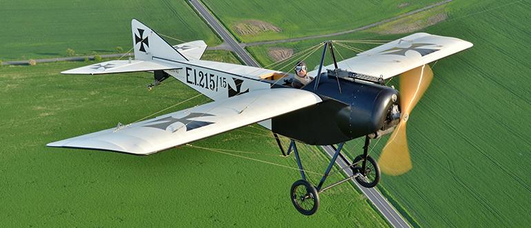 Pfalz E.I: německá, ale vlastně francouzská stíhačka z roku 1914
