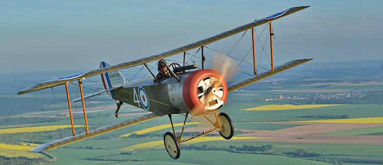 Sopwith Pup: první přistál na letadlové lodi