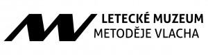Letecké muzeum Metoděje Vlacha - černobílá verze loga ve formátu jpeg, rozlišení 72 dpi.